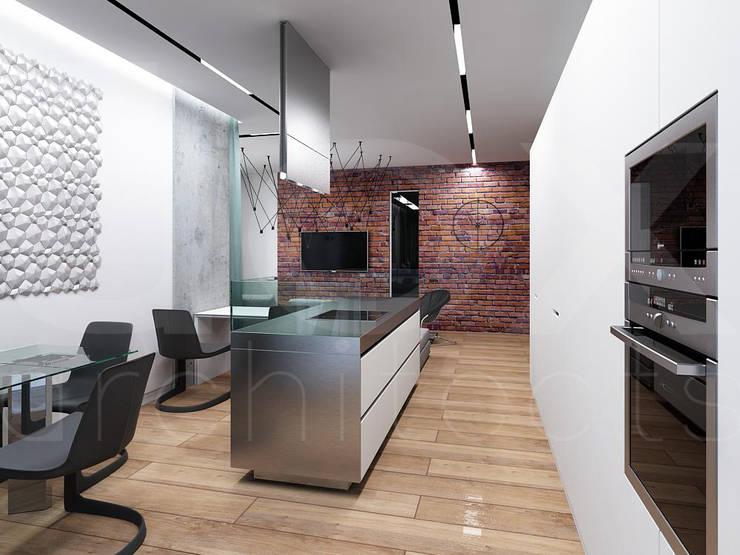 Квартира «Стихия бетона» : Кухни в . Автор – ЙОХ architects