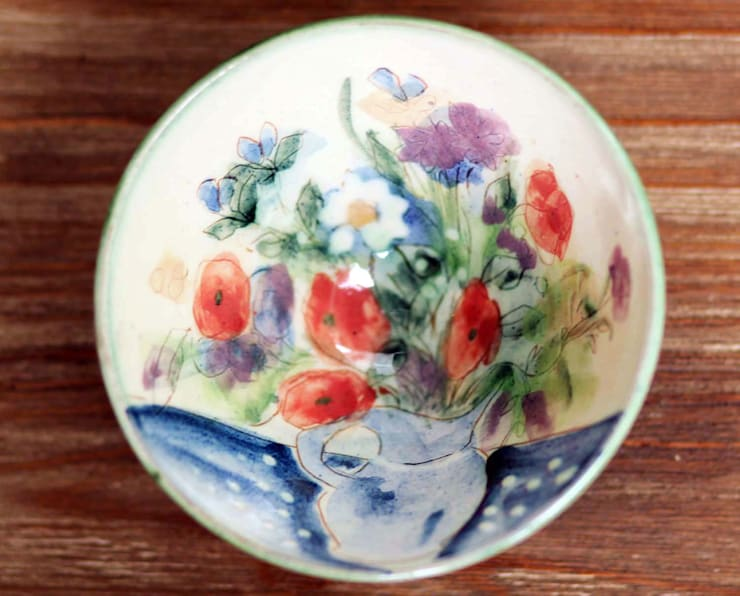Hand Painted Bowl:  Kitchen by DesignRaaga