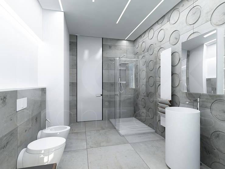 Квартира «Стихия бетона» : Ванные комнаты в . Автор – ЙОХ architects