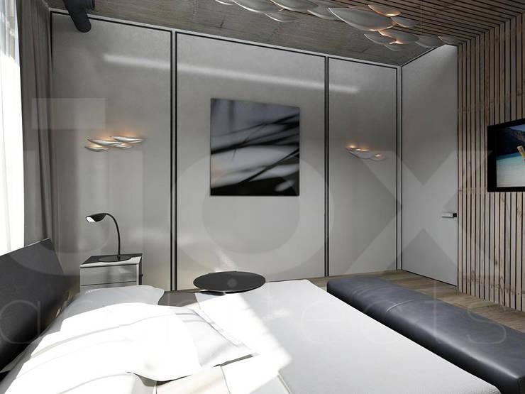 Квартира «Стихия бетона» : Спальни в . Автор – ЙОХ architects