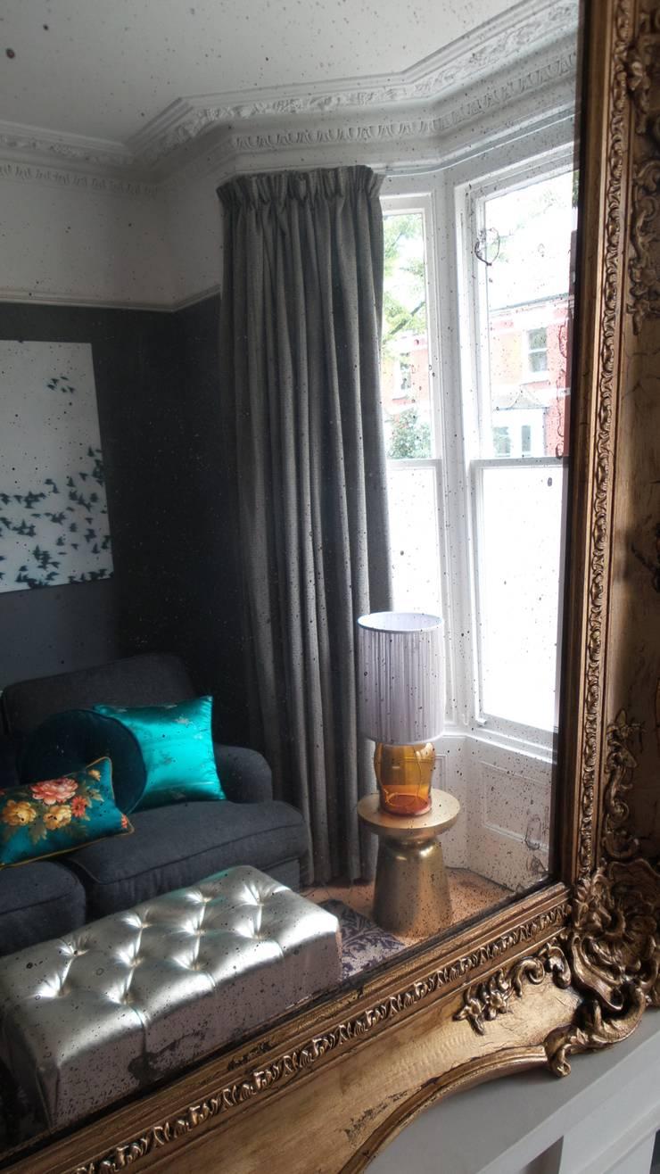 north London residence:  Living room by velvet eccentric interiors