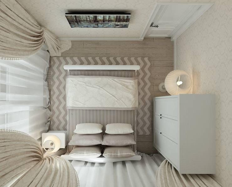 коттежд: Спальни в . Автор – The Аrt of interior from Olga Kalinina
