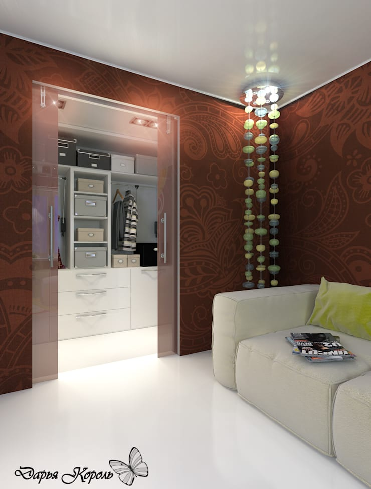 Apartment in paisley. Kitchen, living room, hallway: Гардеробные в . Автор – Your royal design