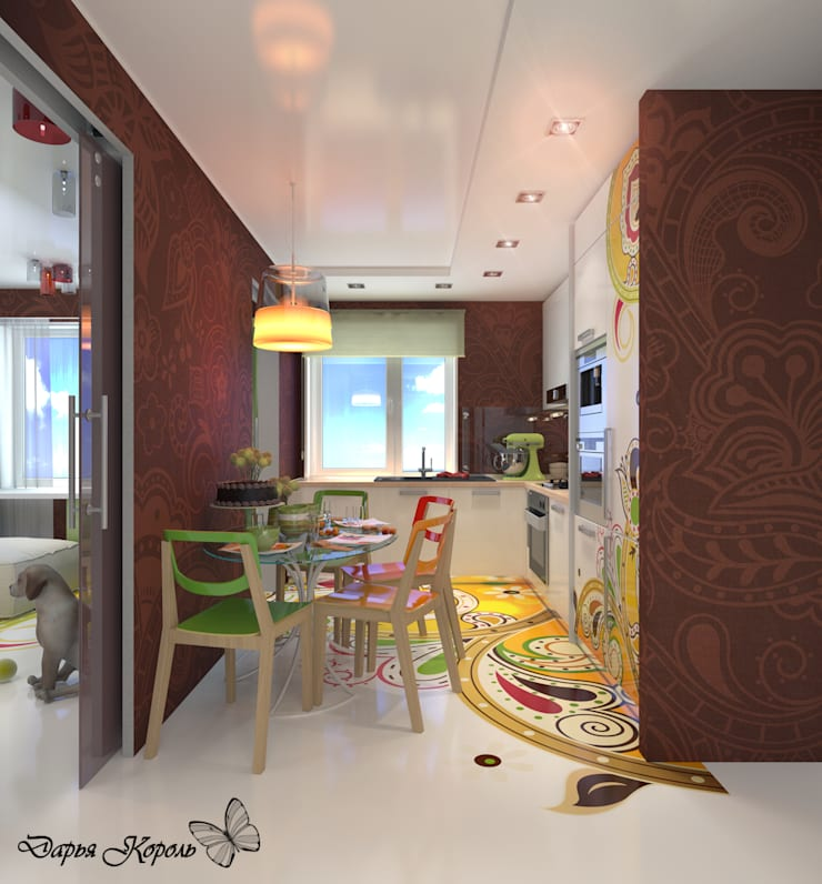 Apartment in paisley. Kitchen, living room, hallway: Кухни в . Автор – Your royal design