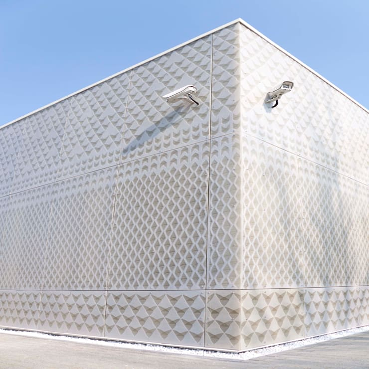 outside view, knitting a facade:  Scholen door Studio Petra Vonk, Modern
