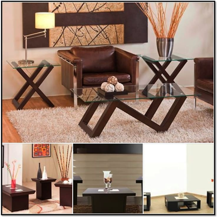 Mesas de Centro: Salas de estilo  por momento actual muebles
