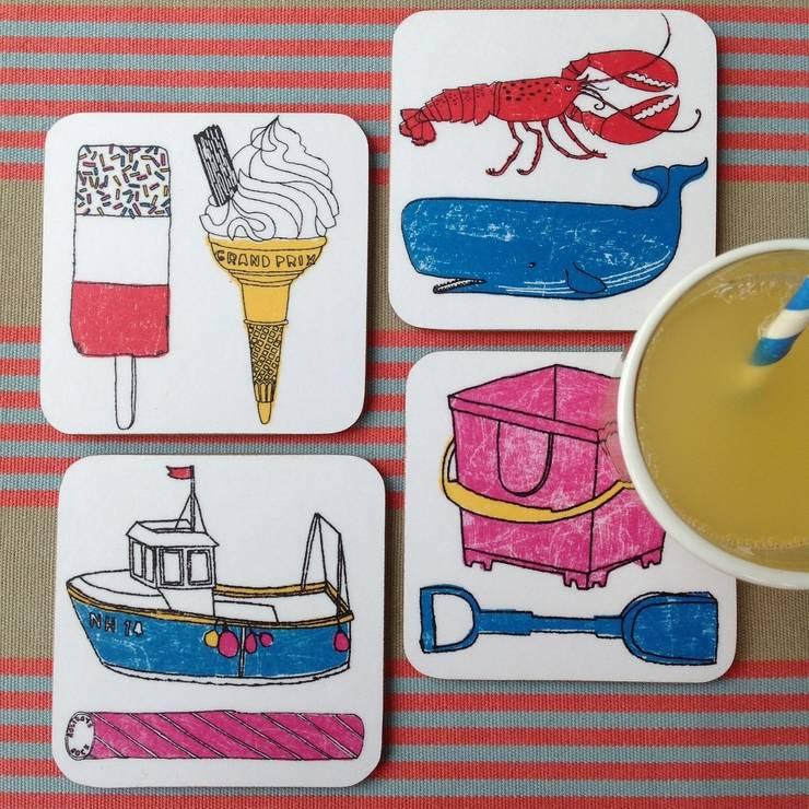 Seaside Fun Coasters:  Kitchen by New House Textiles Ltd