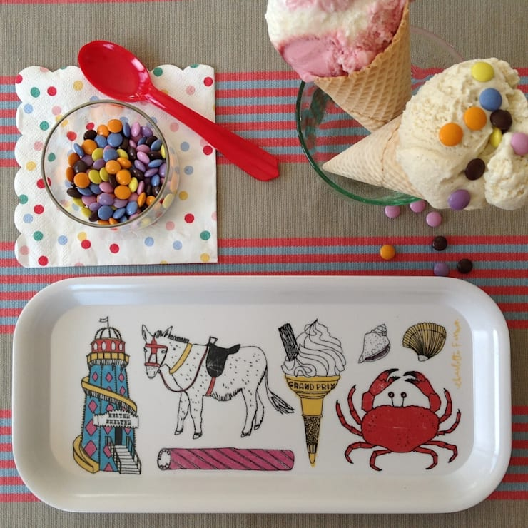 Seaside Fun Drinks Tray:  Kitchen by New House Textiles Ltd