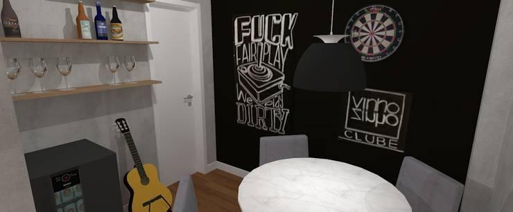 Apartamento Descolado:   por Carolina Mendonça Projetos de Arquitetura e Interiores LTDA