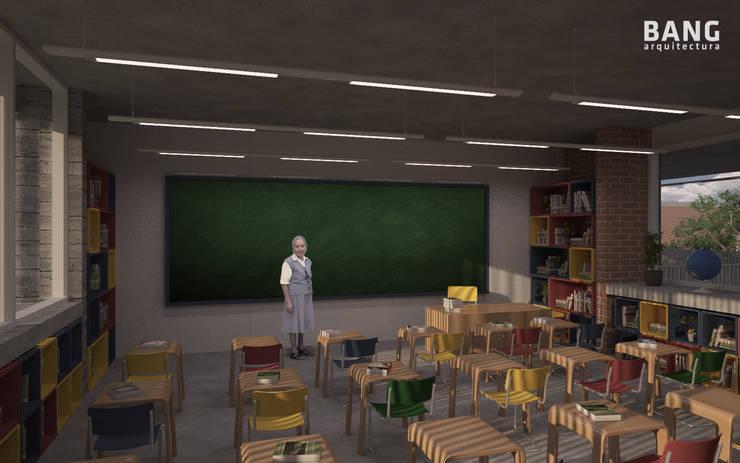 Vista del alumno en el salón:  de estilo  por BANG arquitectura