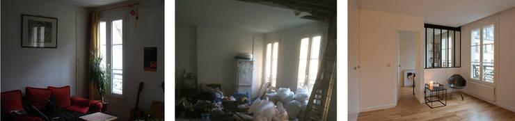 avant/après côté chambre:  de style  par MELANIE LALLEMAND ARCHITECTURES