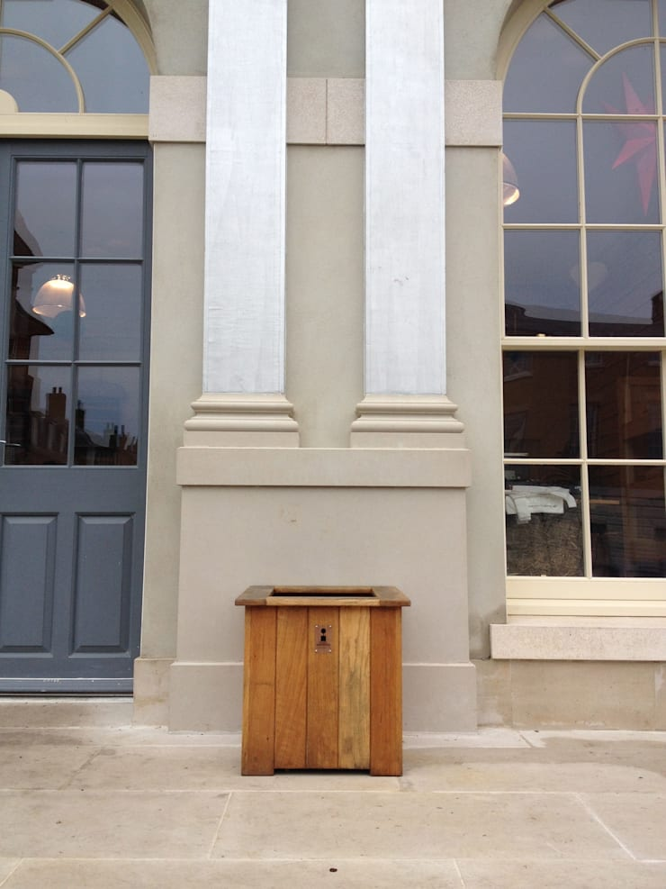 Brace of Butchers—Planters installation.:  Garden  by The Dorset Planter Co.
