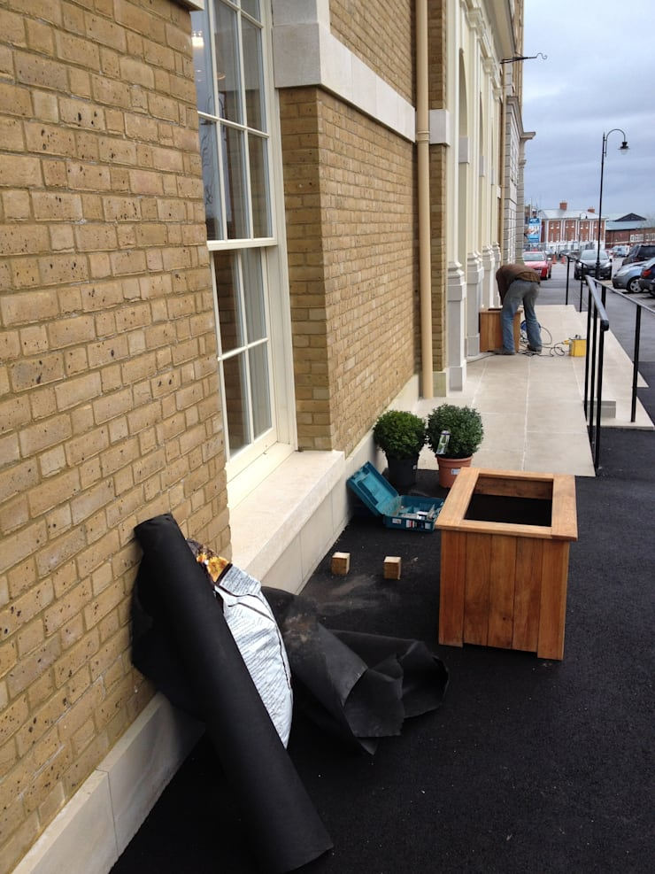Brace of Butchers—Planters installation.:   by The Dorset Planter Co.