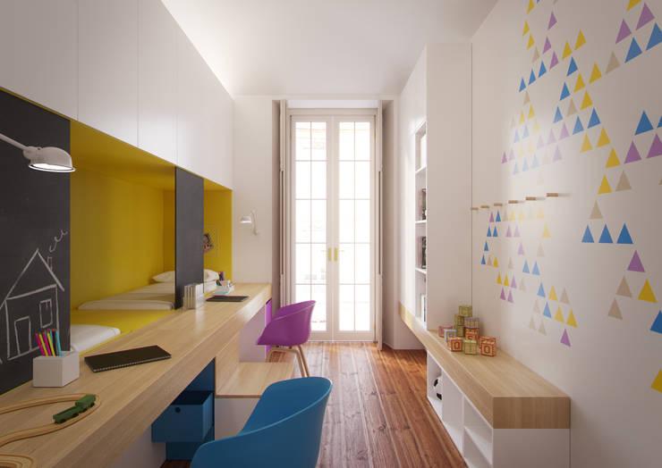 Cameretta ragazzi: Camera da letto in stile in stile Moderno di POINT. ARCHITECTS