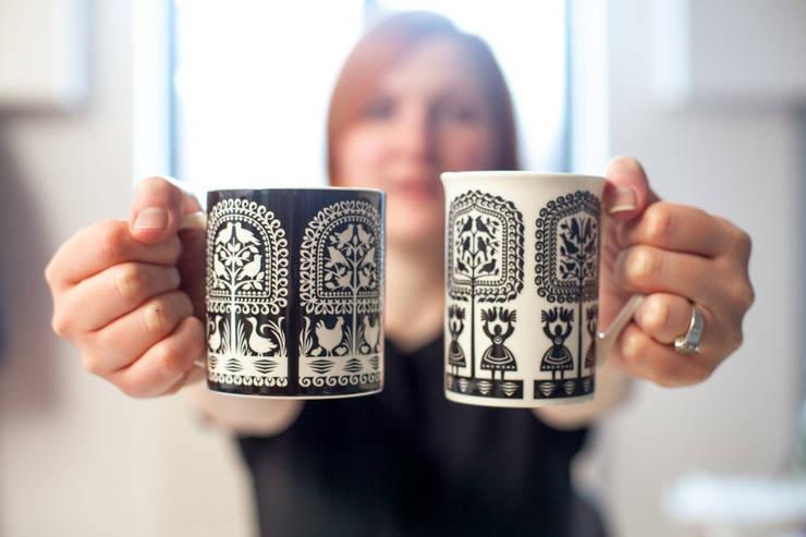 Kubki Kurpiowskie: styl , w kategorii Kuchnia zaprojektowany przez Folkstar