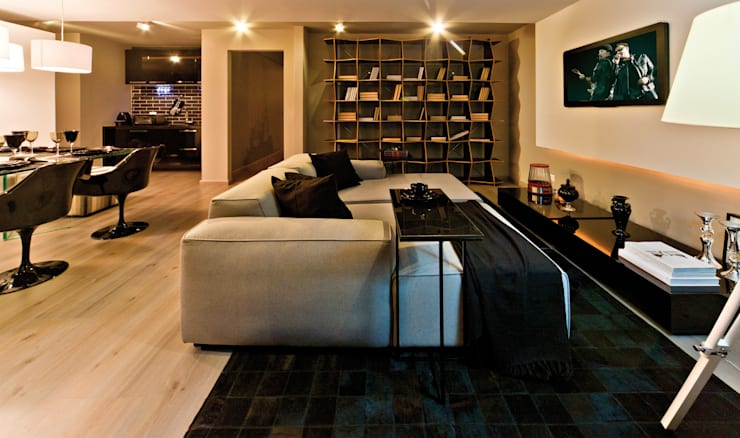 Loft do Mirante: Salas de estar  por Neoarch