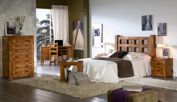 Dormitorio de mueble rústico: Dormitorios de estilo rústico de Decorustico Internet
