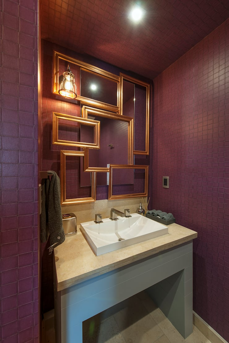 Departamento GC: Baños de estilo  por kababie arquitectos