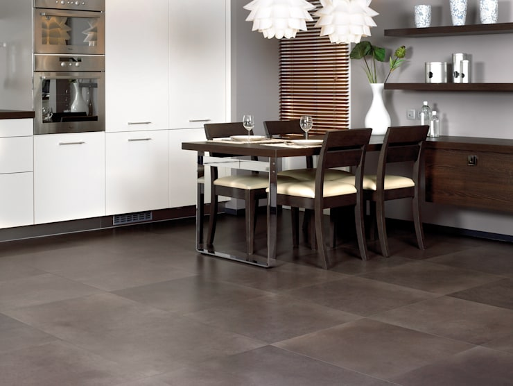 Polished Concrete Dark:  Walls & flooring by Quick-Step