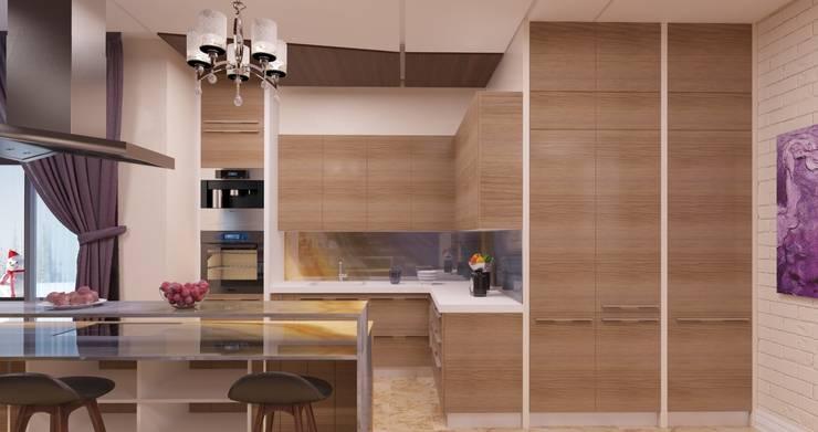 Дом в подмосковье общей площадью 380м2:  в . Автор – Filipp Kitsenko