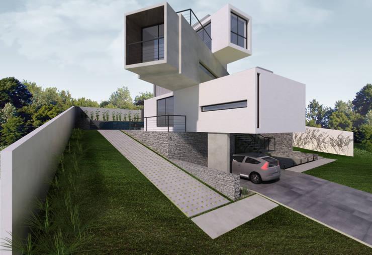 Maisons de style  par K+S arquitetos associados, Moderne
