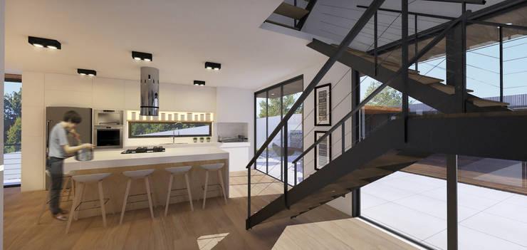 ห้องครัว โดย K+S arquitetos associados, โมเดิร์น