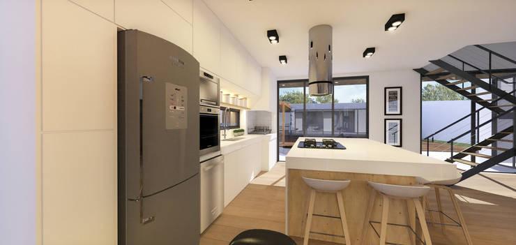 Casa Contêiner: Cozinhas modernas por K+S arquitetos associados