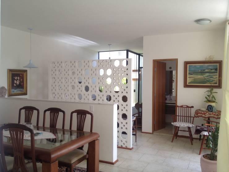 residência em sorocaba: Salas de jantar modernas por nzaa arquitetura e urbanismo