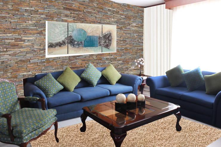 Salas de estar rústicas por Spazio3Design