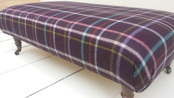 Multi Check Wine:  Living room by Herts Upholstery