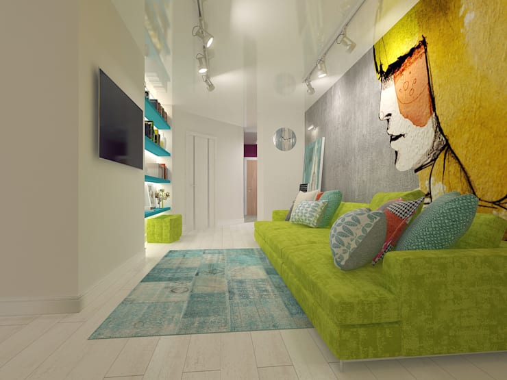 Квартира в ЖК Антарес.: Гостиная в . Автор – Tutto design