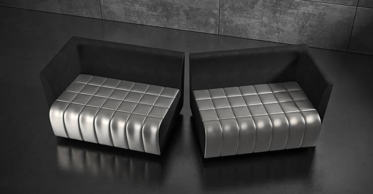 Sofa HALF: styl , w kategorii Salon zaprojektowany przez Delicious Concept