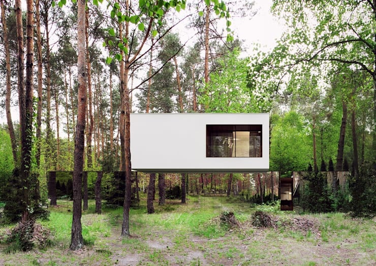 Casas de estilo moderno por REFORM Architekt Marcin Tomaszewski