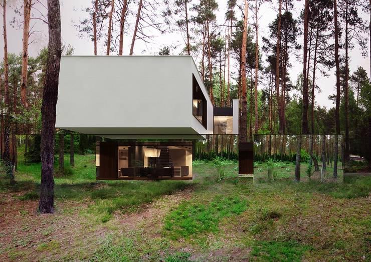 Lustrzany dom: styl , w kategorii Domy zaprojektowany przez REFORM Architekt Marcin Tomaszewski