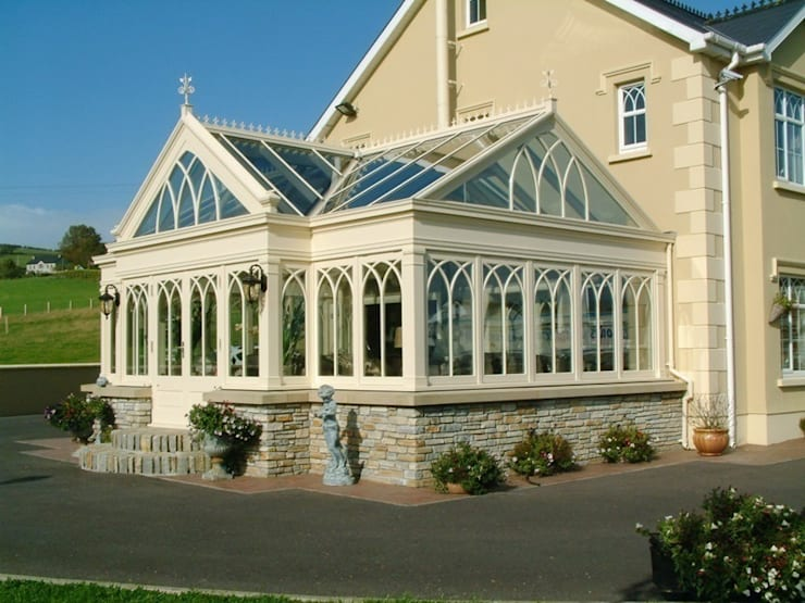 Hardwood Conservatory:  Conservatory by Hampton Windows