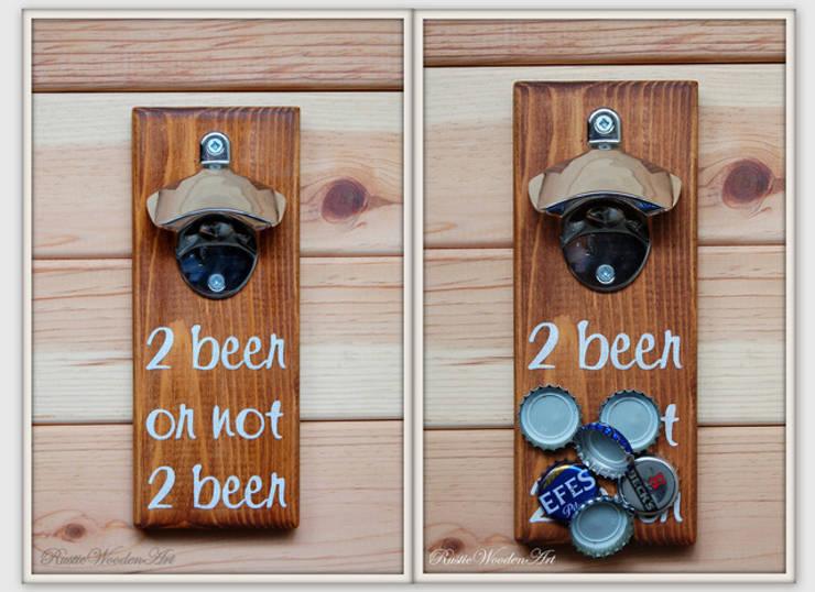 RusticWoodenArt – Duvara monte açacak - 2 beer or not 2 beer: modern tarz , Modern