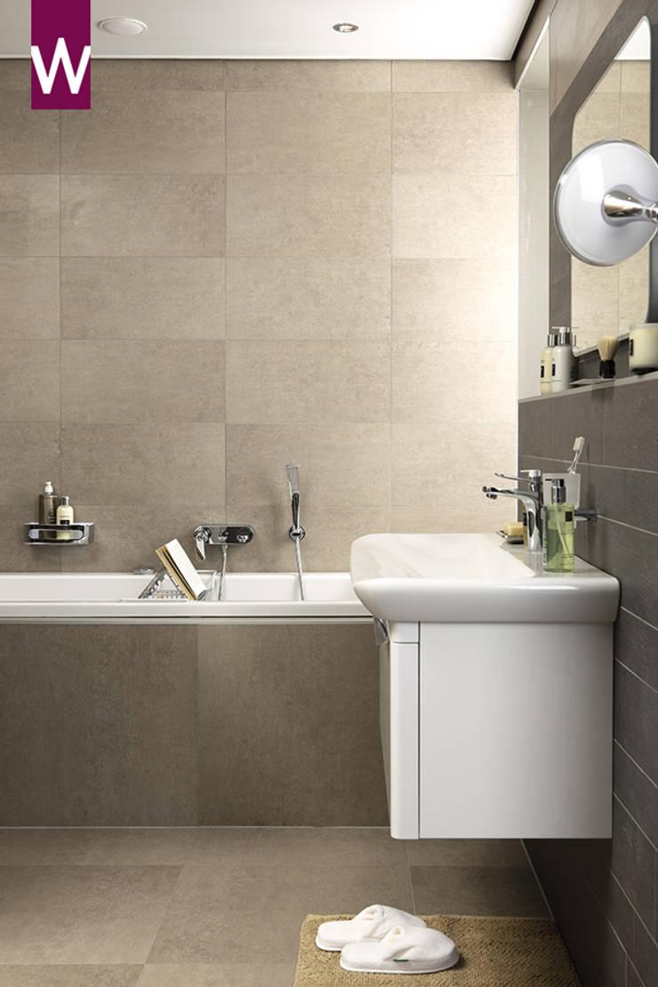 Natuurlijke badkamer Van Wanrooij:  Badkamer door Van Wanrooij keuken, badkamer & tegel warenhuys, Rustiek & Brocante