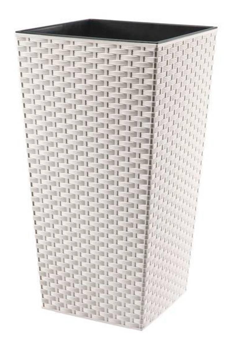 Donica biała rattan: styl , w kategorii  zaprojektowany przez Ired-Garden,Minimalistyczny