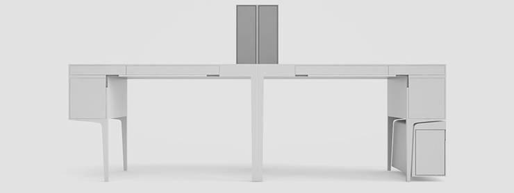 Biurko DESK 1: styl , w kategorii Domowe biuro i gabinet zaprojektowany przez Delicious Concept,