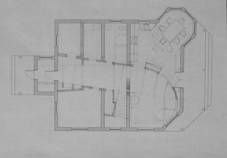 Один из листов вариантного проектирования, первый этаж.:  в . Автор – CHM architect