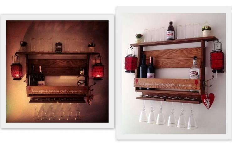 RusticWoodenArt – Rustik şarap rafları - Özel sipariş:  tarz İç Dekorasyon