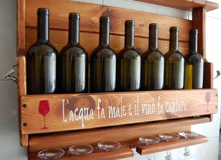 RusticWoodenArt – Rustik şarap rafları - Özel sipariş:  tarz , Rustik