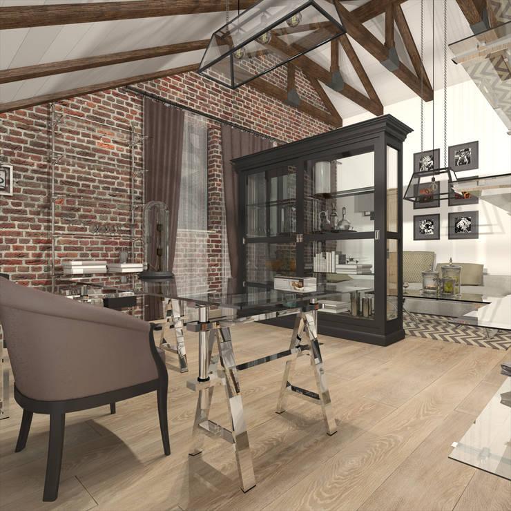 CHM architect: endüstriyel tarz tarz Çalışma Odası