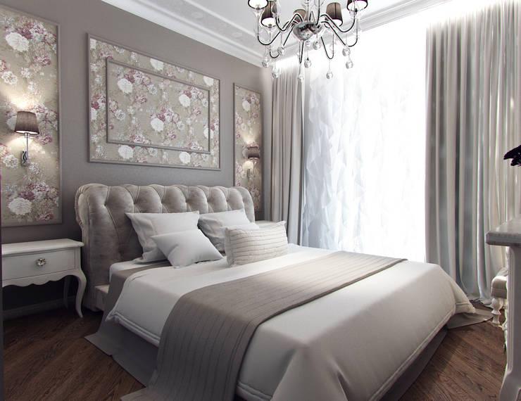 Квартира с элементами прованса: Спальни в . Автор – Дизайн студия 'Чехова и Компания'
