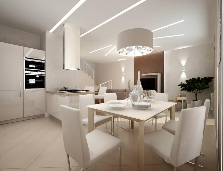 Белое белым: Кухни в . Автор – Дизайн студия 'Чехова и Компания'