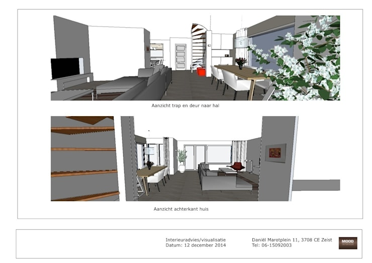 Visualisatie woning Bunnik:   door Mood Interieur