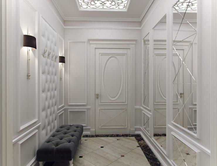 Квартира с элементами прованса: Коридор и прихожая в . Автор – Дизайн студия 'Чехова и Компания'