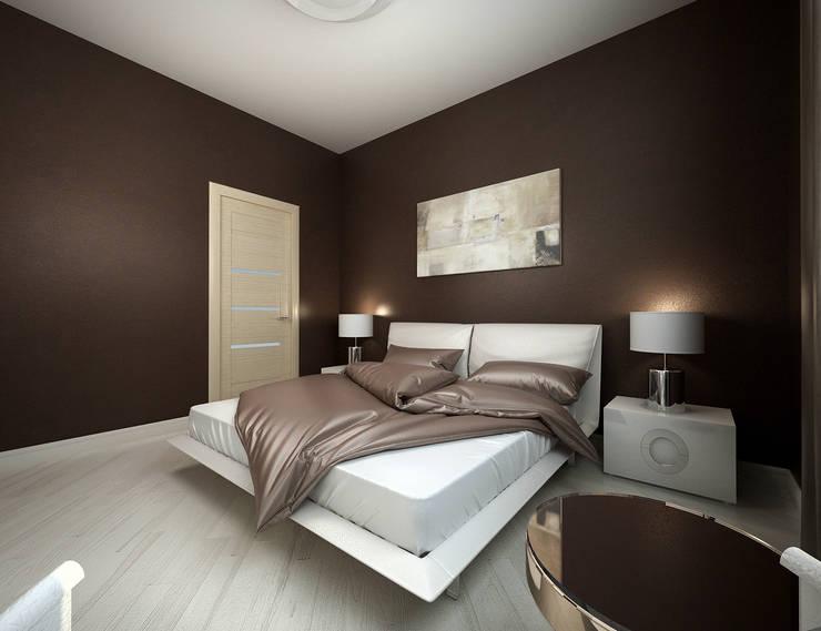 Белое белым: Спальни в . Автор – Дизайн студия 'Чехова и Компания'