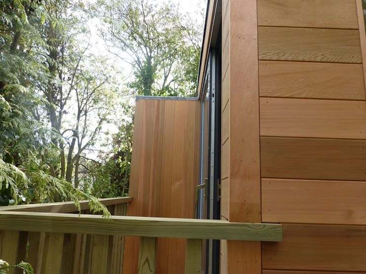 Malpas Project - Cornwall:  Study/office by Building With Frames