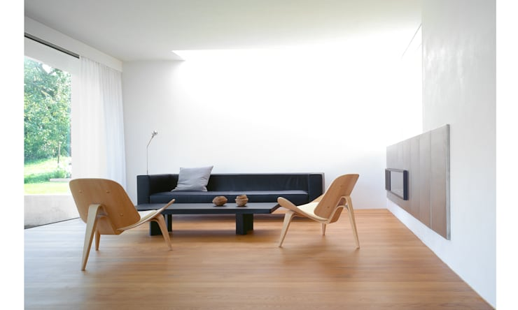 Villa P:  Wohnzimmer von Philipp Architekten - Anna Philipp
